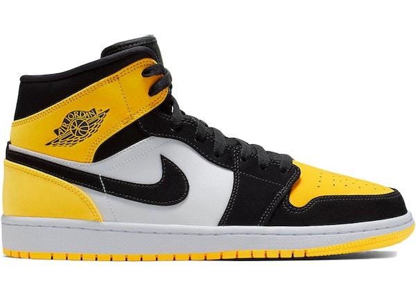 1f1c74a3aea Air Jordan 1 Mid Yellow Toe Black