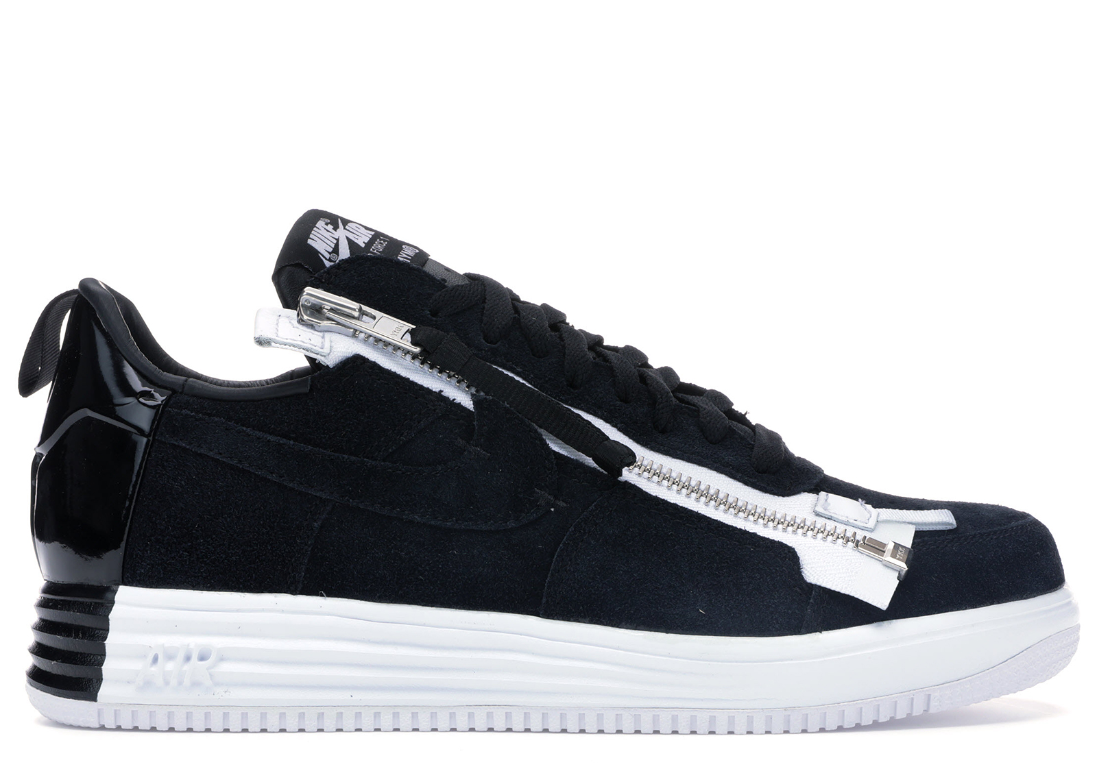 Lunar Force 1 Low Acronym Black White