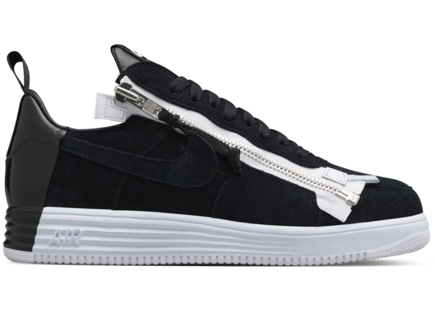 detailed look 7e4da 9f869 Lunar Force 1 Low Acronym Black White - 698699-001