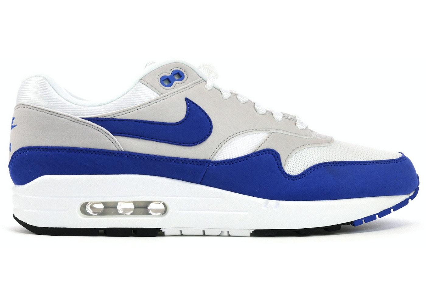 Confrontar Maldito Sympton  Nike Air Max 1 Anniversary Royal (2017 Restock Pair) - 908375-102