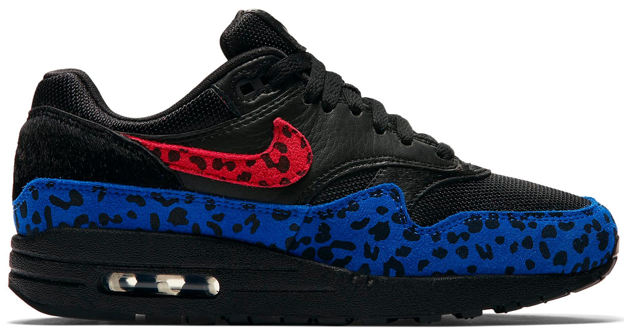 05afbd386e nike. air max 1; air max 1 black leopard w