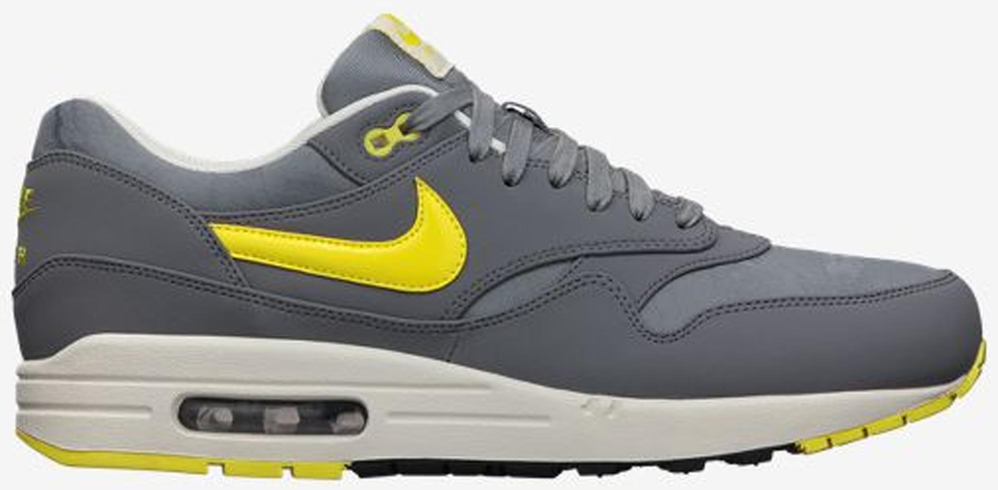 Nike Air Max 1 Cool Grey Sonic Yellow