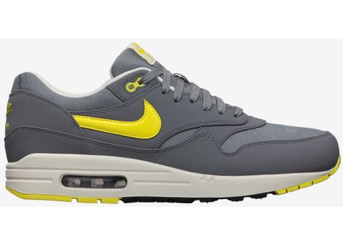 factible Debería Prefacio  Nike Air Max 1 Cool Grey Sonic Yellow - 512033-070