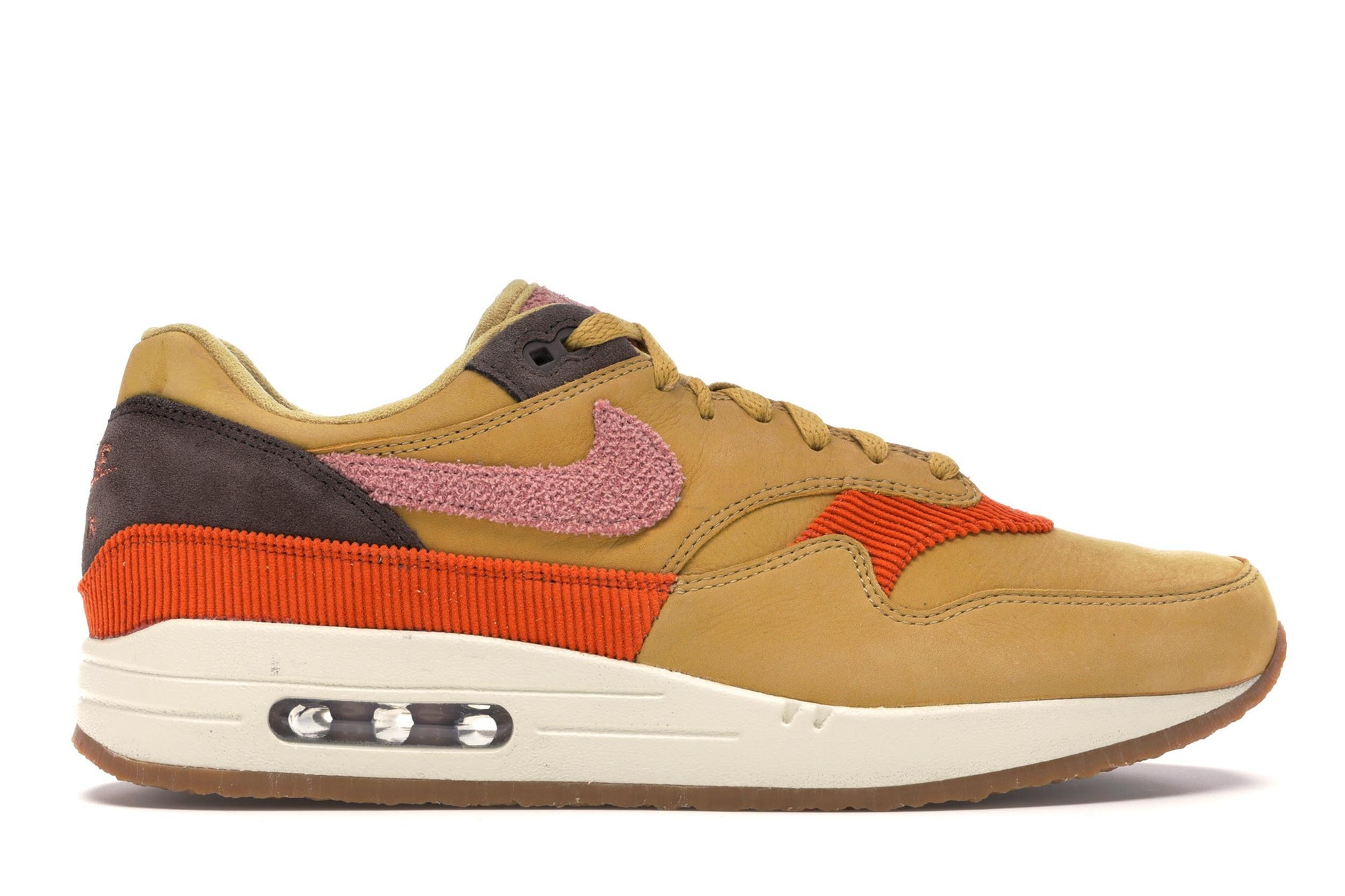 Air Max 1 Crepe Wheat Gold Rust Pink