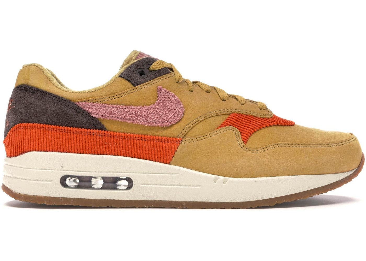 new styles 53cf8 b3dc8 Air Max 1 Crepe Wheat Gold Rust Pink - CD7861-700