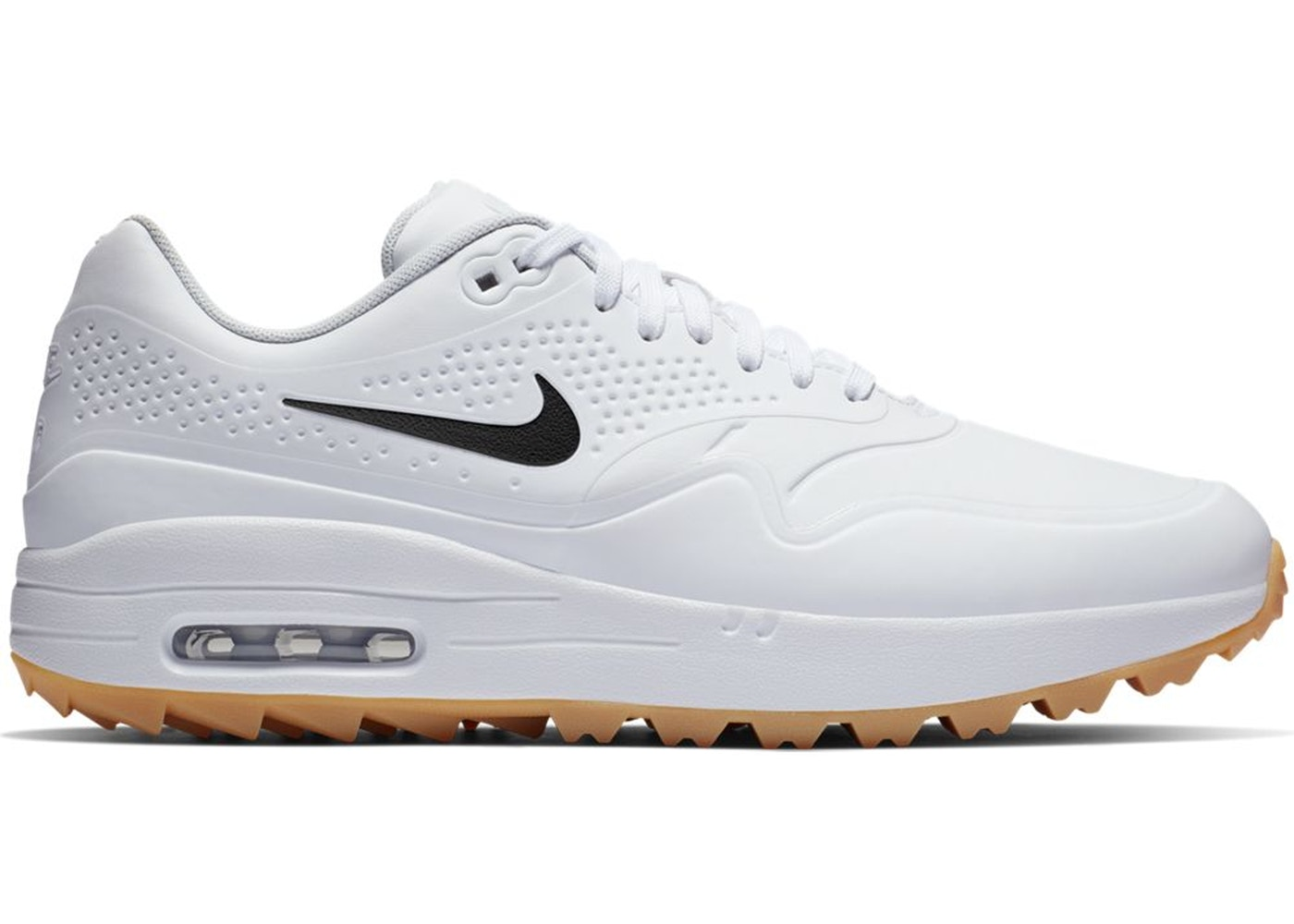 Nike Air Max 1 Golf White Gum Black Swoosh