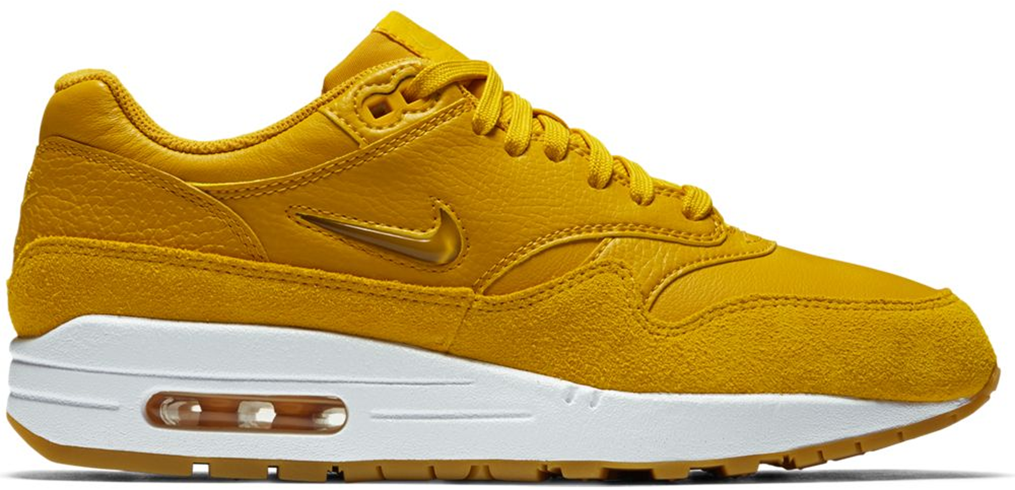 Air Max 1 Jewel Mineral Yellow (w) In Mineral Yellowmineral Yellow