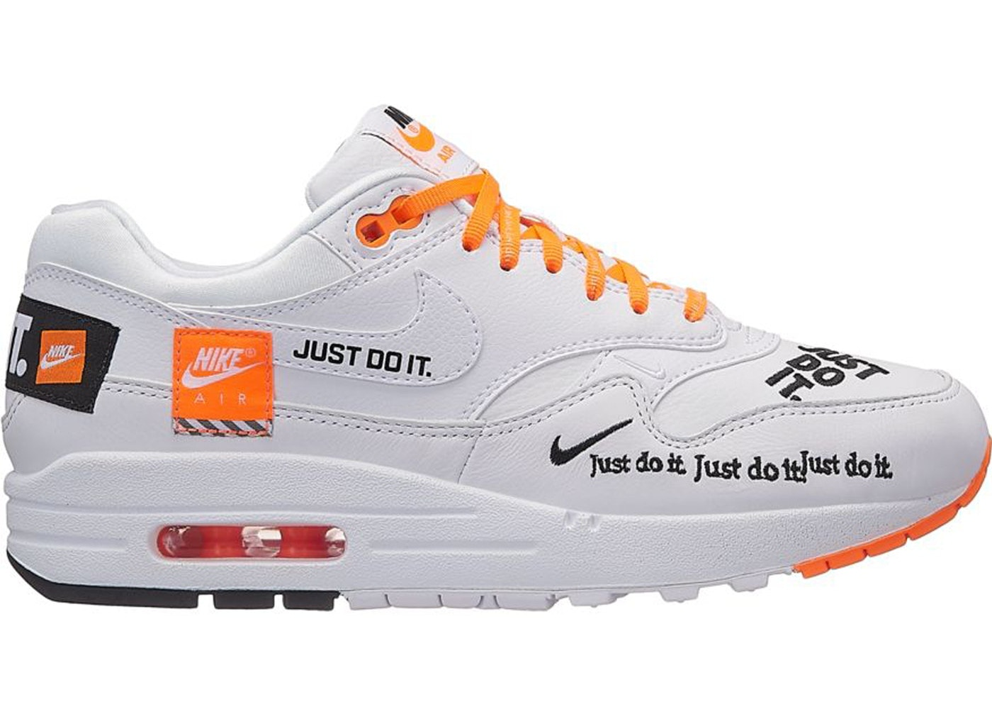 price reduced official supplier huge selection of Air Max 1 Just Do It Pack White