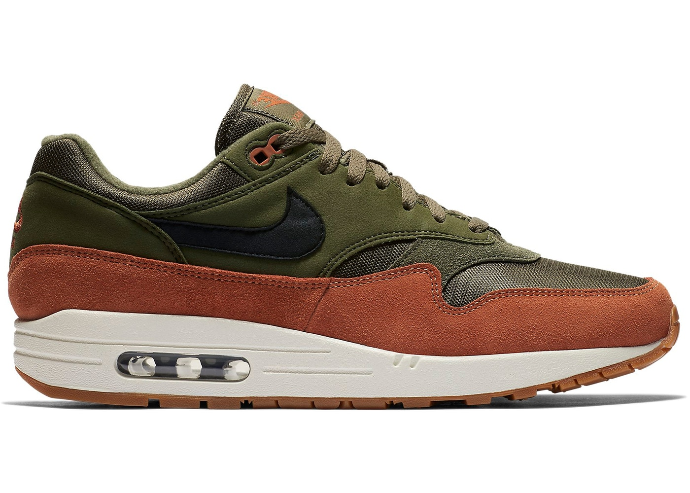 los angeles 268c8 1c339 Air Max 1 Olive Canvas Dark Russet - AH8145-301