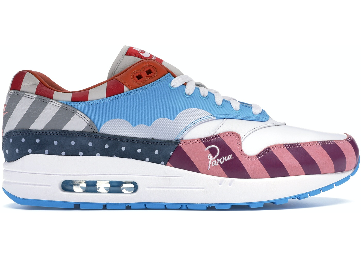 info for a064d 79687 Air Max 1 Parra 2018 (Friends & Family)