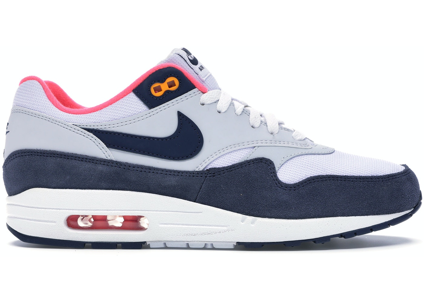 clearance sale new collection half off Air Max 1 Pure Platinum Midnight Navy Racer Pink (W)