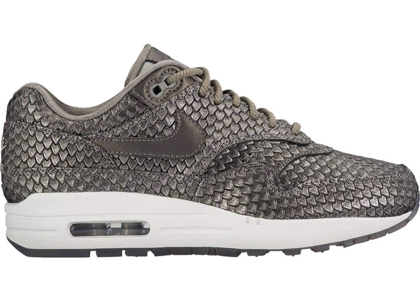 cheap for discount f08dd 8cebe Air Max 1 Reptile Metallic Pewter (W) - 454746-015