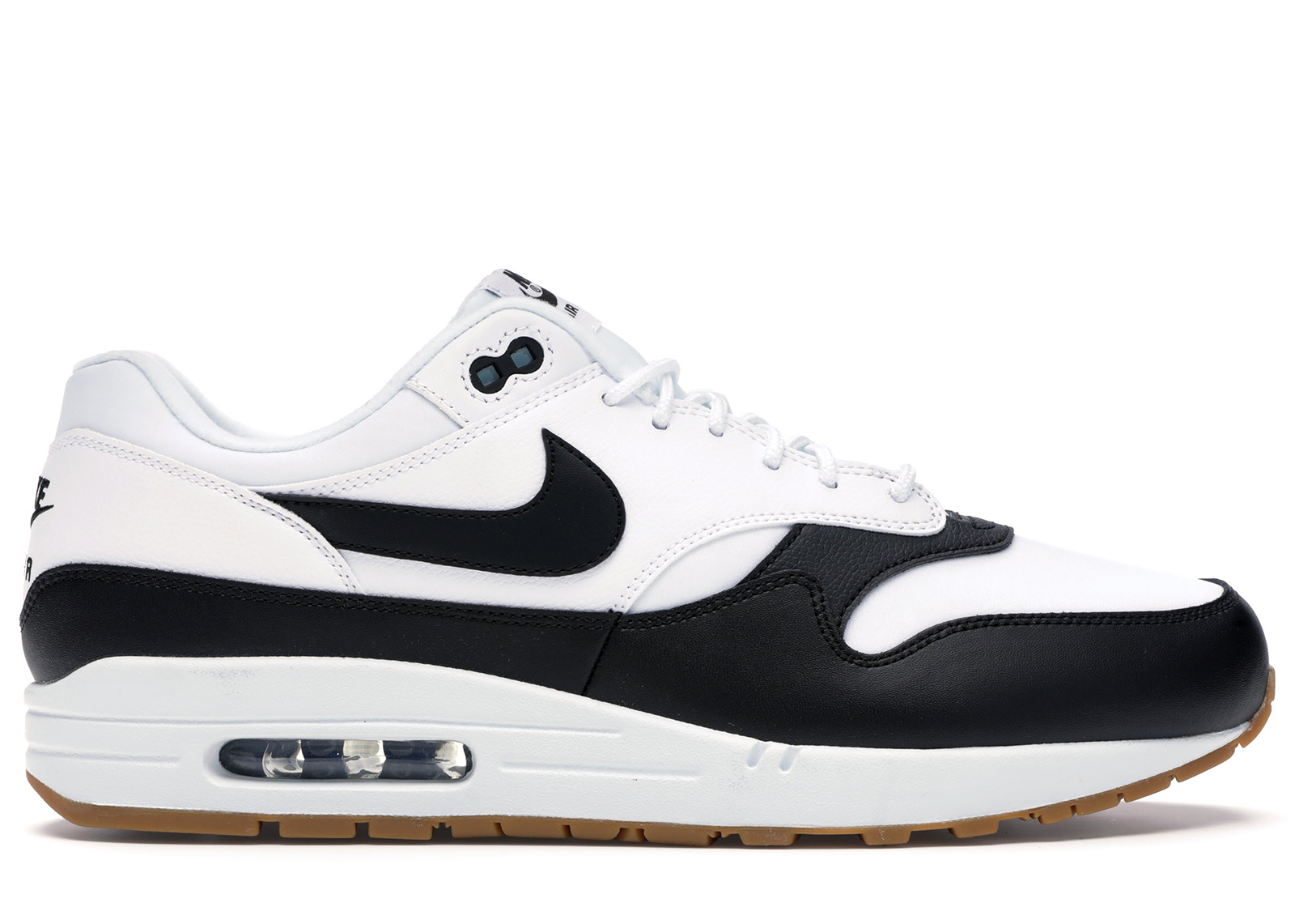 air max 1 black white gum