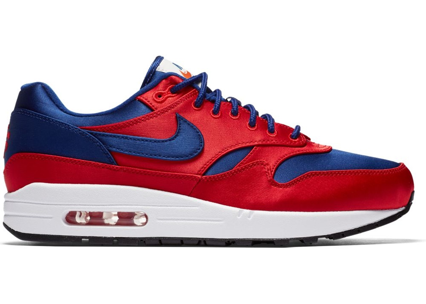 premium selection ebcbd 007a5 Sell. or Ask. Size 14. View All Bids. Air Max 1 Satin University Red Deep  Royal Blue