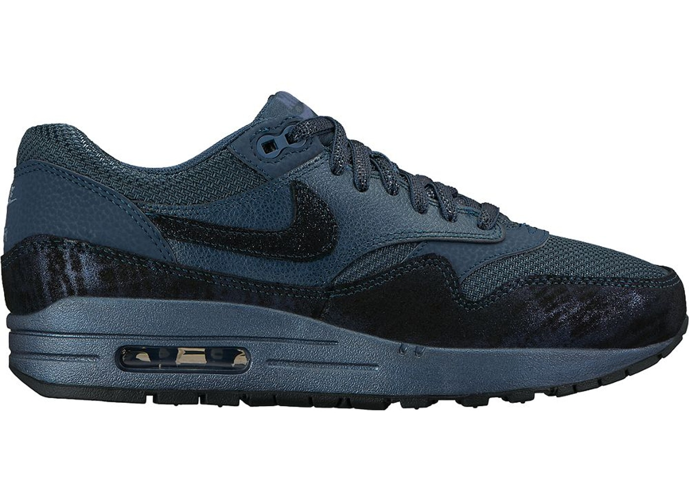 best loved 4a36c e2ede Air Max 1 Squadron Blue Metallic Armory Navy (W)