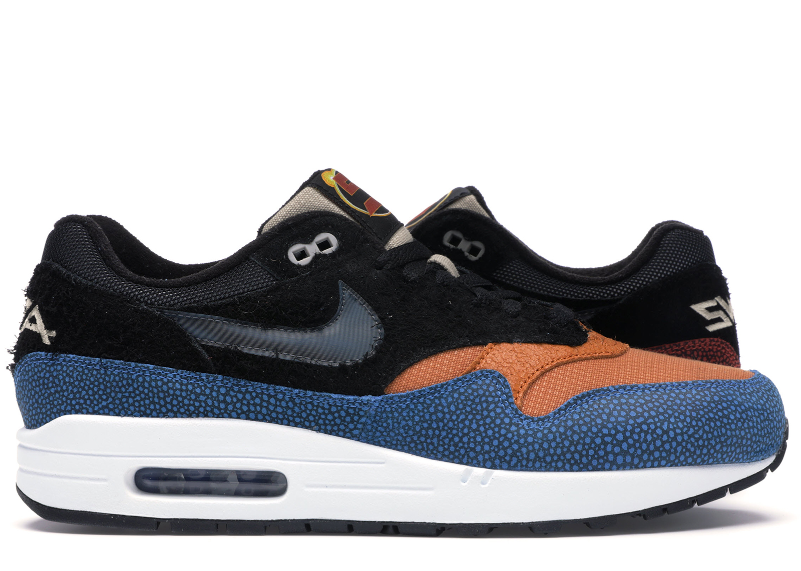 Details about Nike Air Max 1 SWIPA De'Aaron Fox Black Cinder Orange Photo Blue Red CJ9746 001