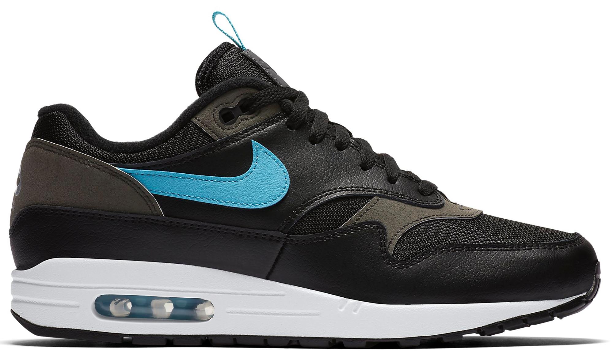 Nike Air Max 1 Tongue Tab Black Blue