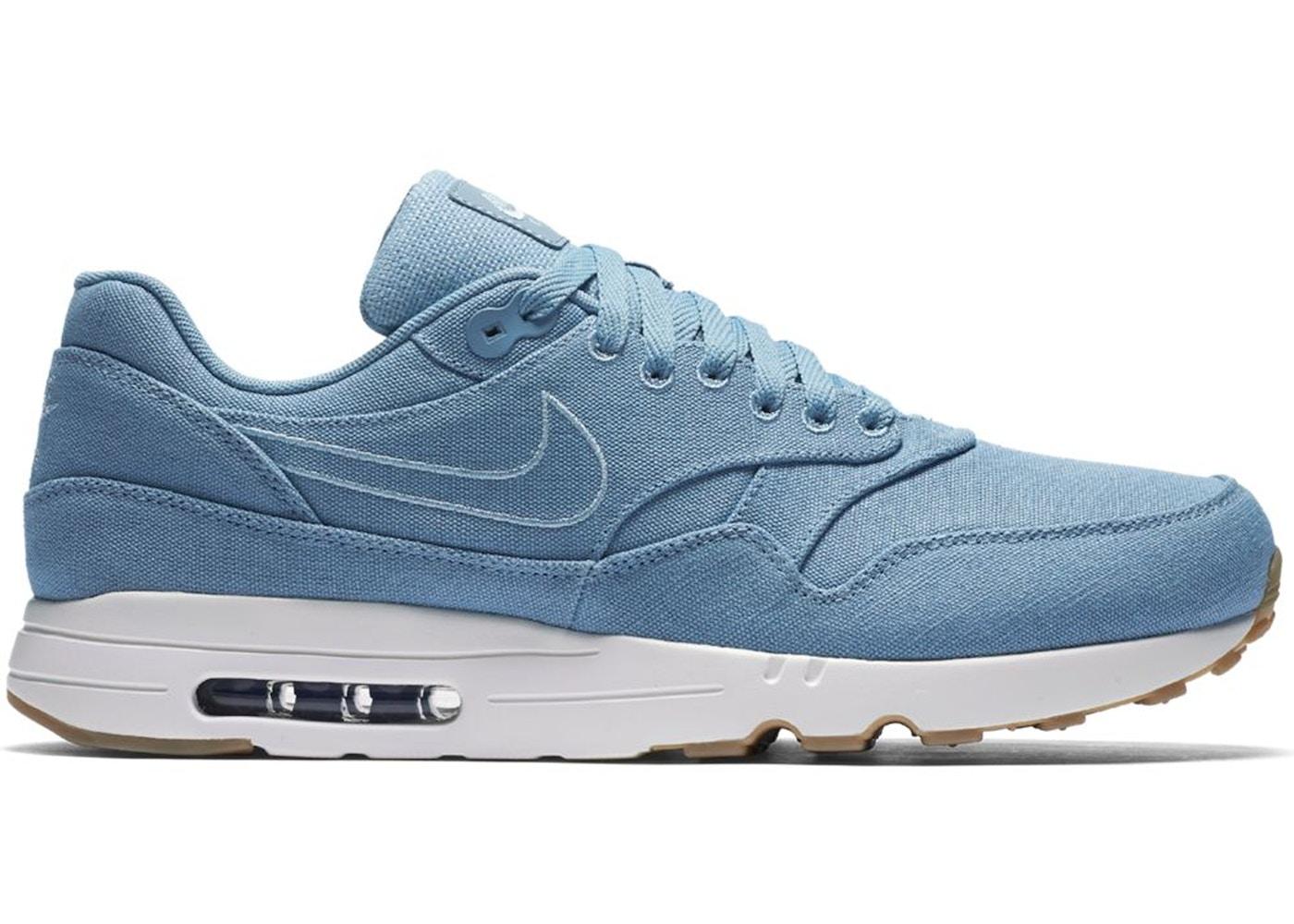 Nike Air Max 1 Ultra 2.0 Textile Mens Blue GreyLight