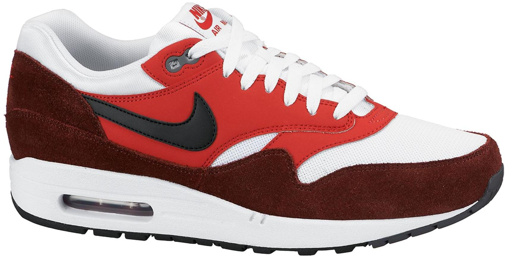 air max 1 red white black