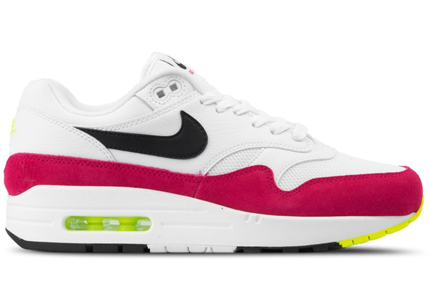 hot sale online 04a25 3b53c Air Max 1 White Black Volt Rush Pink