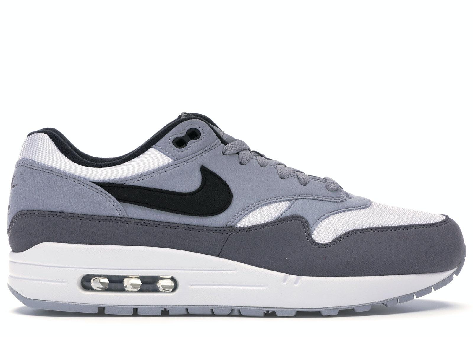 Air Max 1 White Black Wolf Grey