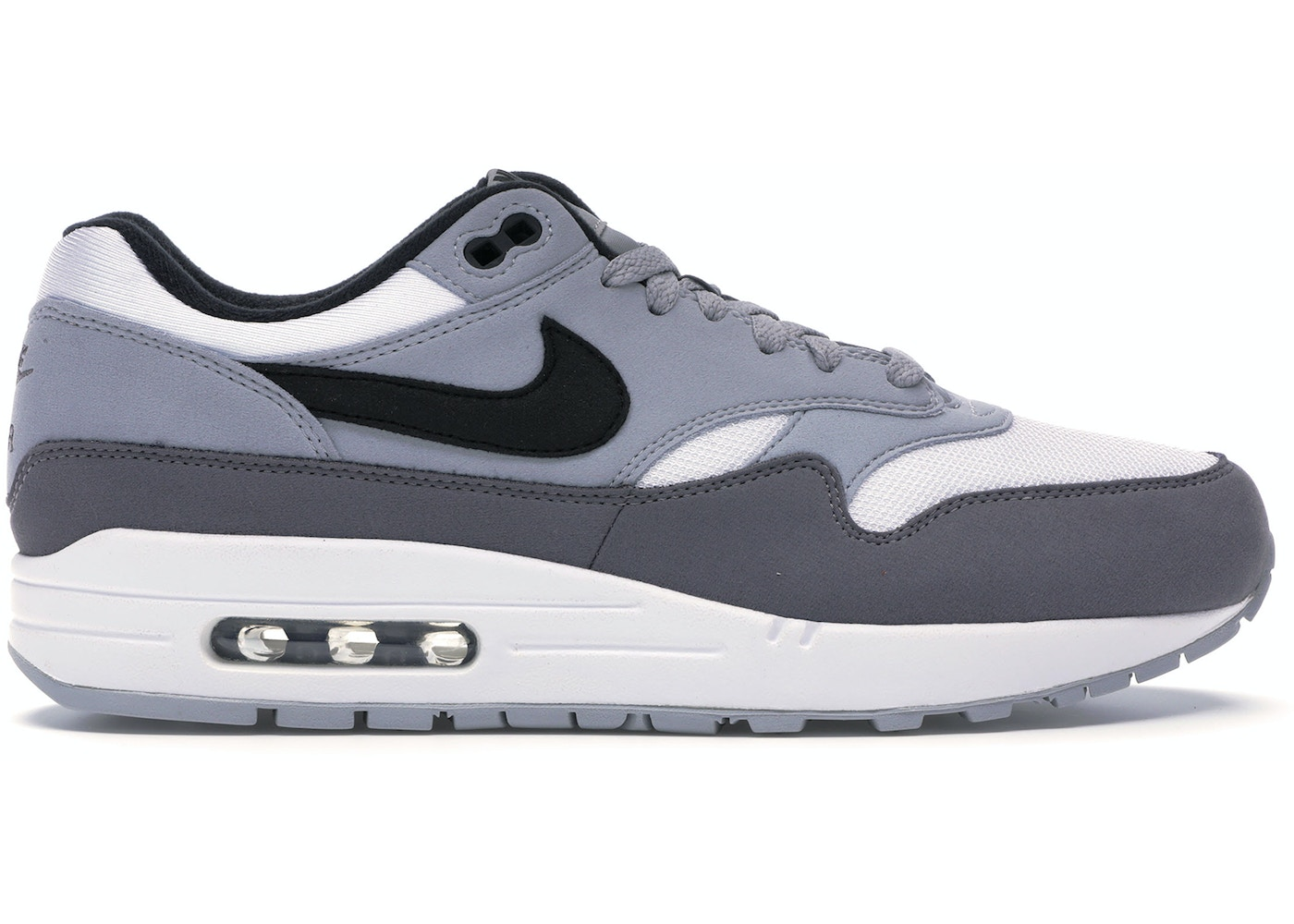 authentic quality new release official shop Air Max 1 White Black Wolf Grey