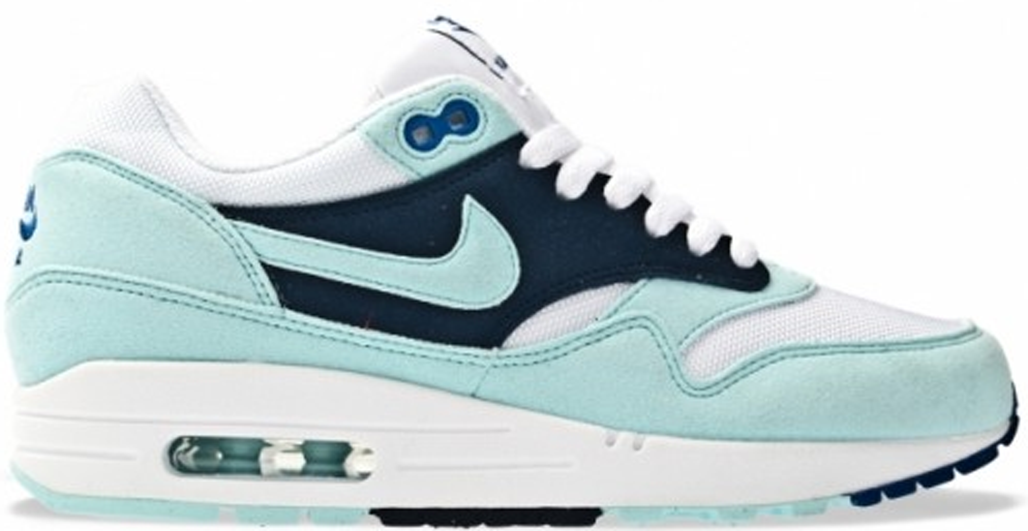 womens nike air max 1 white mint candy obsidian shoes of prey
