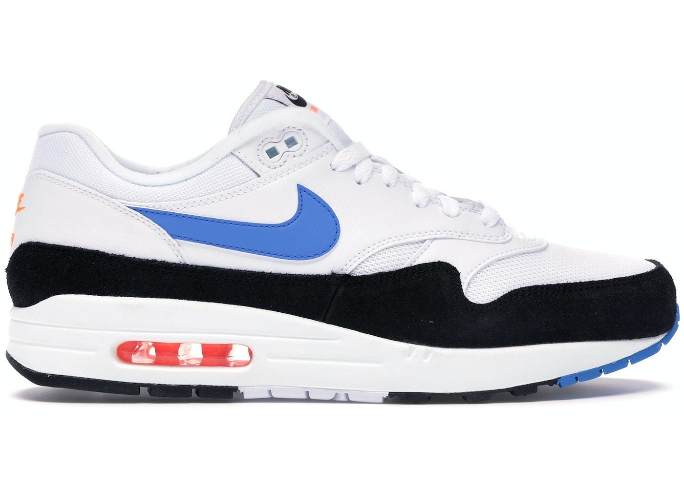 Patológico Tormenta Garganta  Nike Air Max 1 White Photo Blue Black - AH8145-112