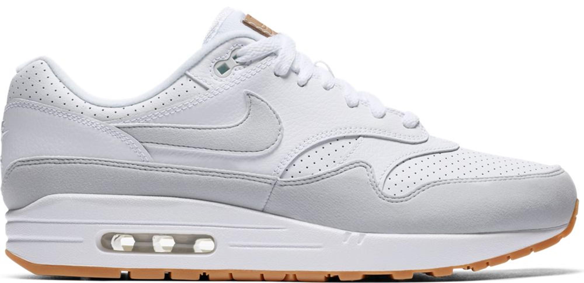 Nike Air Max 1 White Platinum Gum