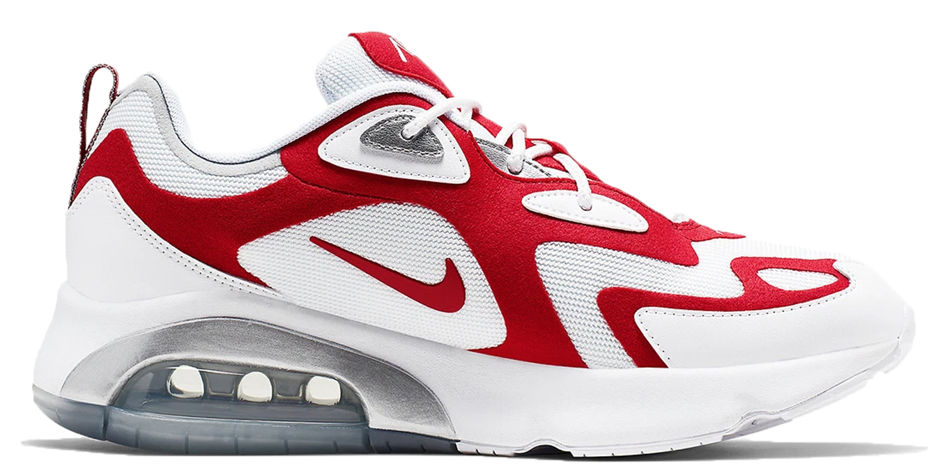 Nike Air Max 200 White University Red