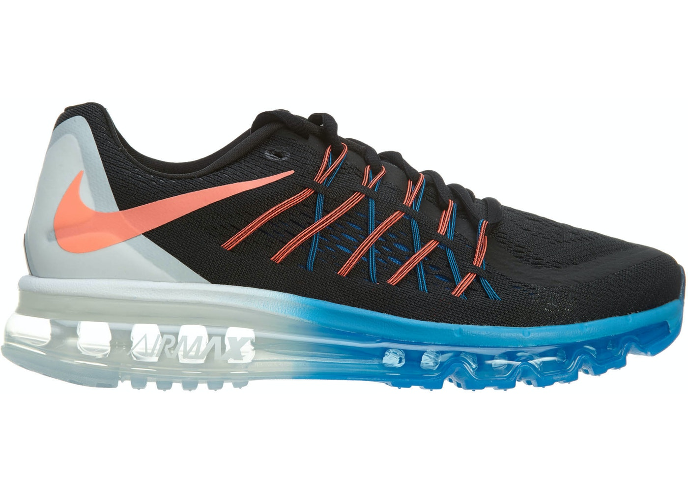 Sell. or Ask. Size --. View All Bids. Nike Air Max 2015 Black Hot Lava-White-Photo  Blue c7e39ab919ae
