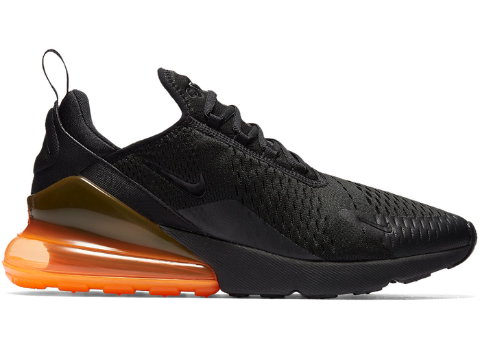 billig Air Max 270 Black Total Orange  Schlussverkauf