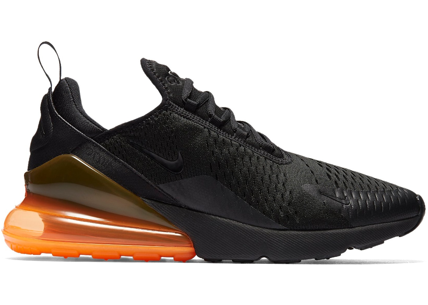 new arrival 095ce 81dcb Air Max 270 Black Total Orange