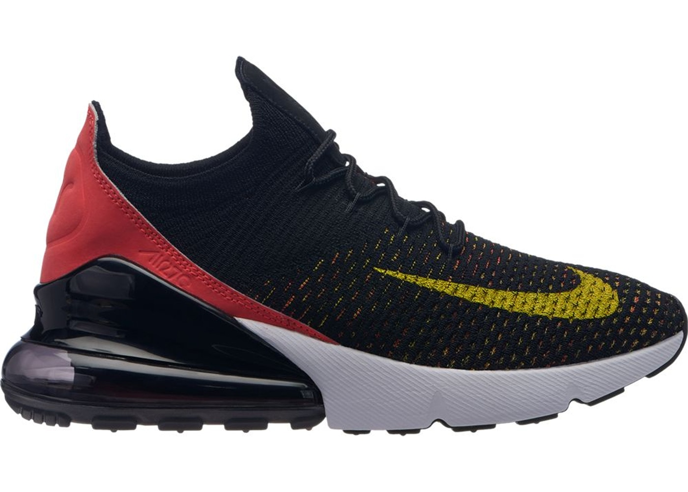 8090bb92e4 Sell. or Ask. Size --. View All Bids. Air Max 270 Flyknit Black Bright  Crimson Yellow Strike ...