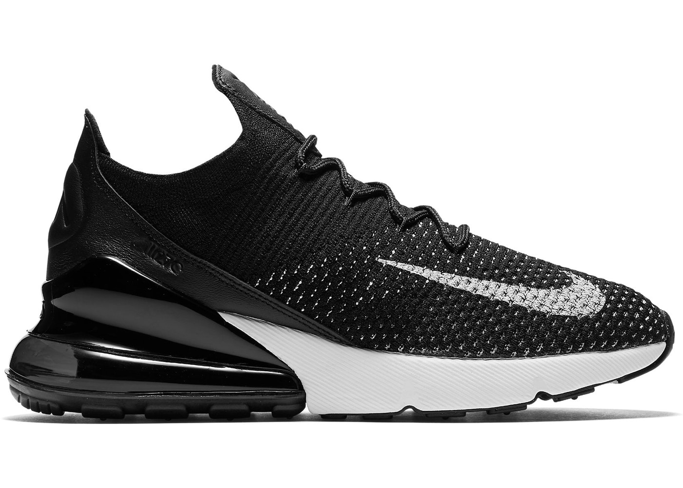 Nike Air Max 270 Flyknit BlackBlack White AH6803 001