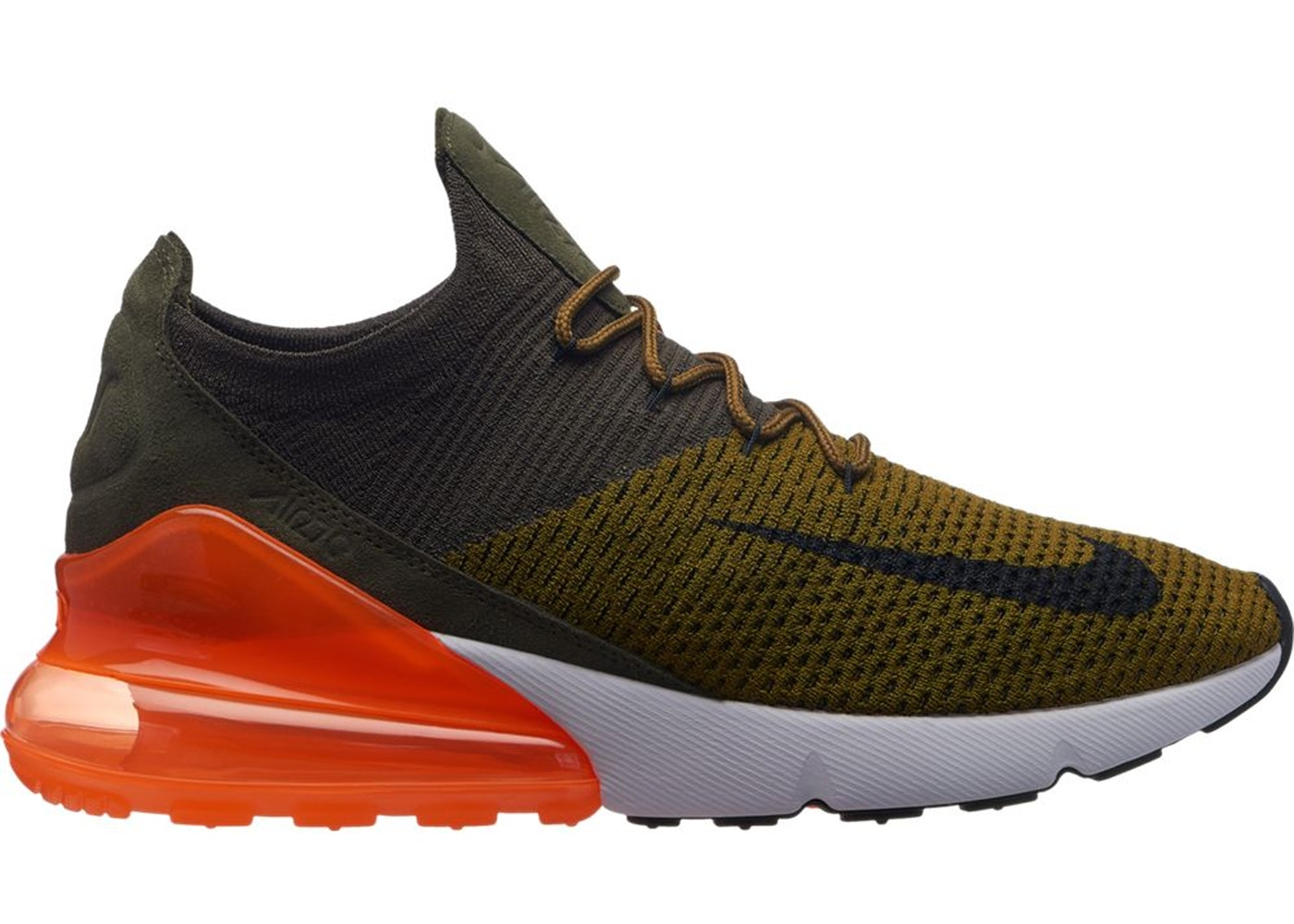 Air Max 270 Flyknit Olive Flak Total Orange