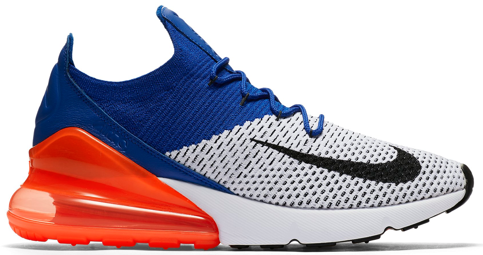 Air Max 270 Flyknit Racer Blue Total Crimson