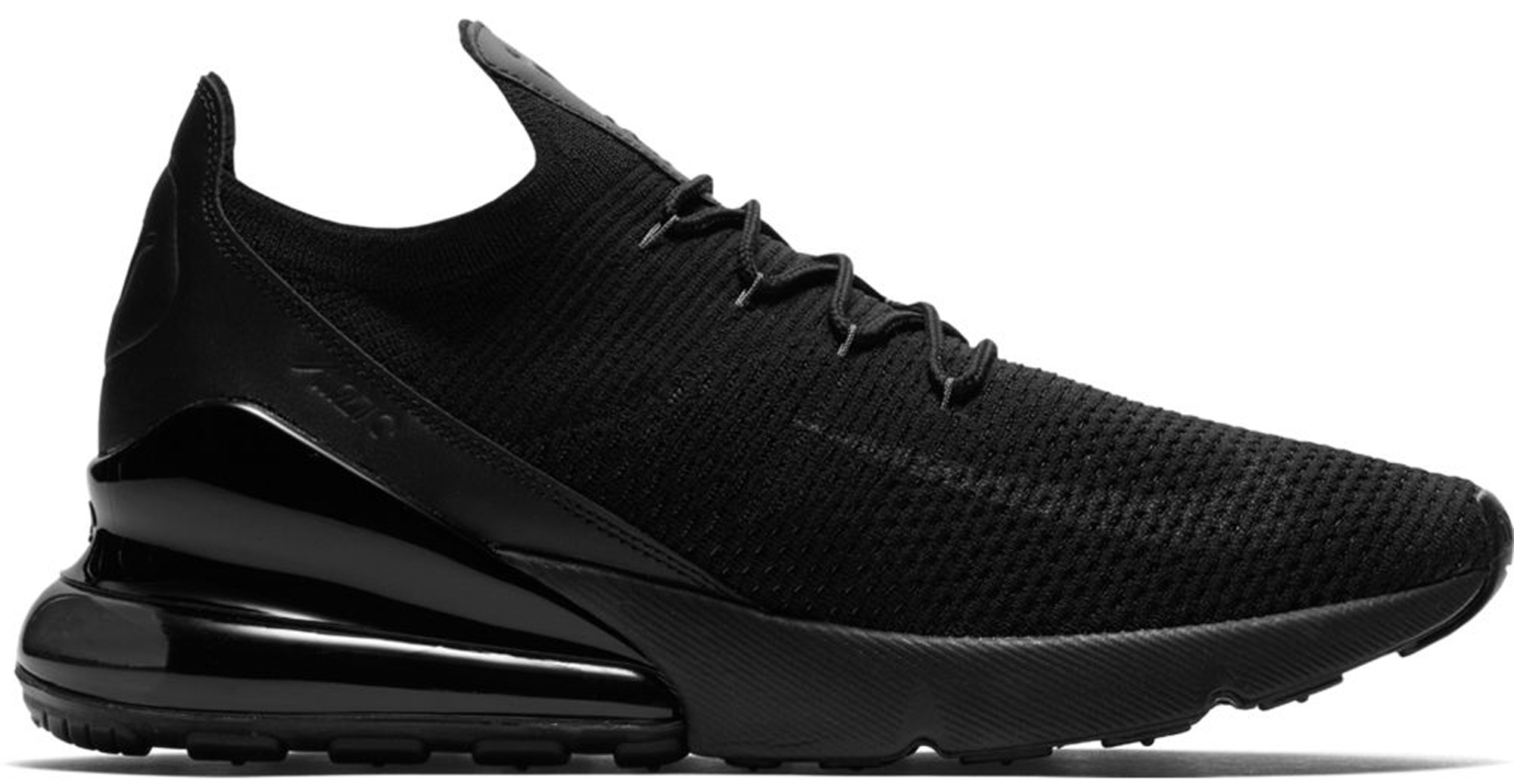 b201483c818ae Air Max 270 Flyknit Triple Black ...