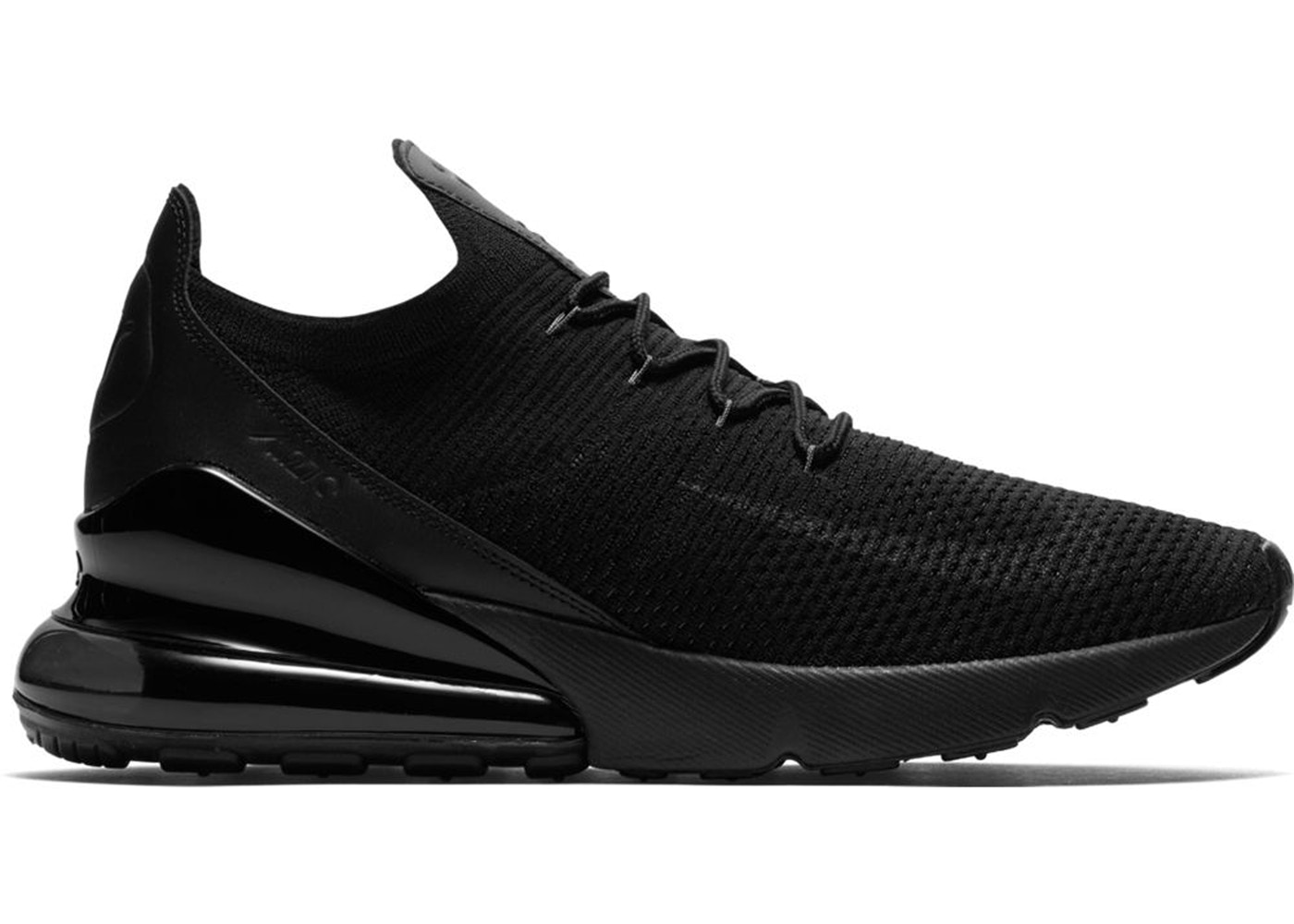 new style 4b16d 3c306 Air Max 270 Flyknit Triple Black
