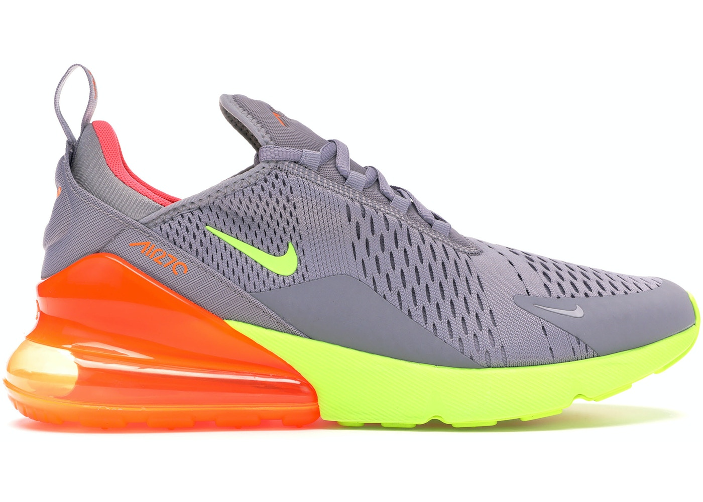 sports shoes 85103 7b084 Air Max 270 Grey Volt Orange