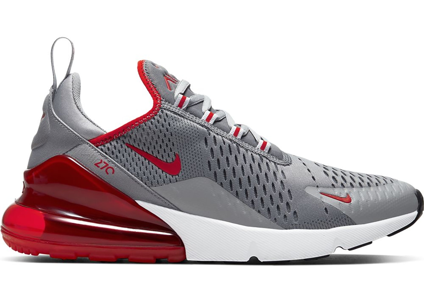 Nike Air Max 270 Particle Grey University Red