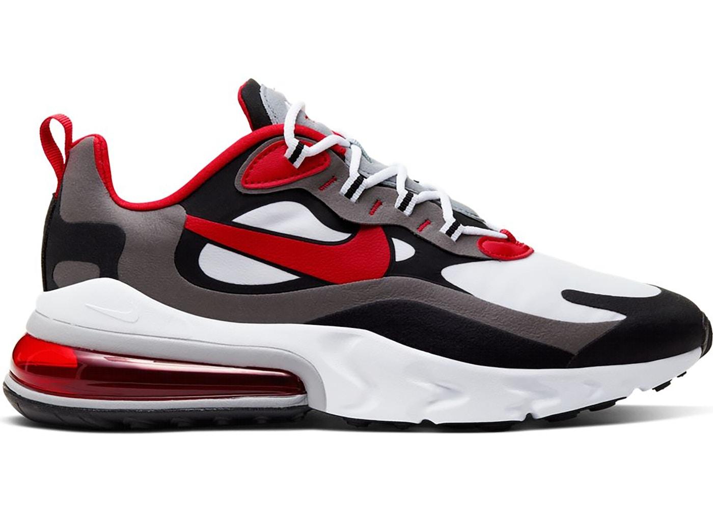 air max 270 react red white black