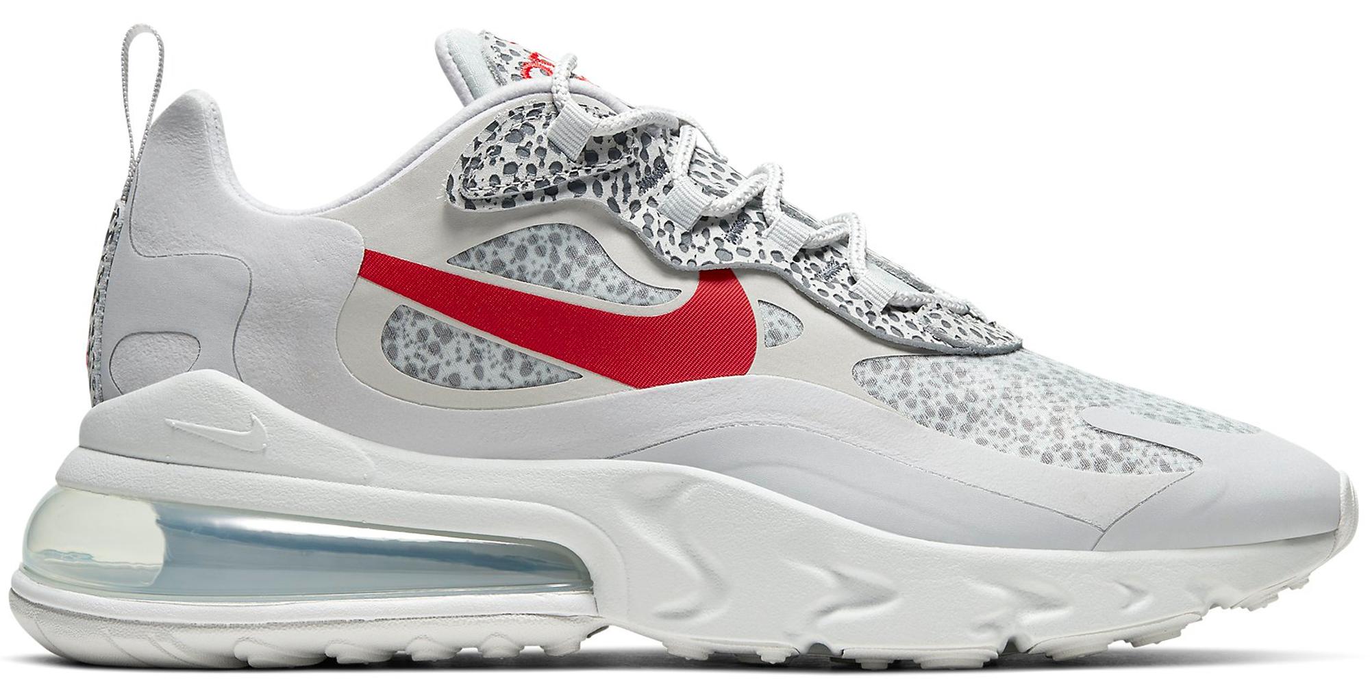 Nike Air Max 270 React Safari Grey Red