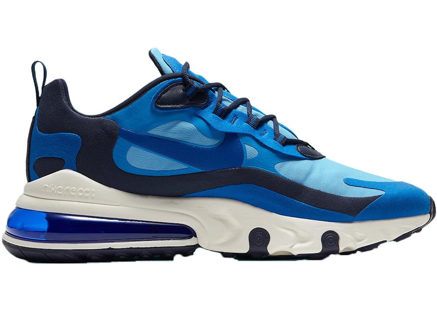 Nike Air Max 270 React Triple Blue Ci3866 400