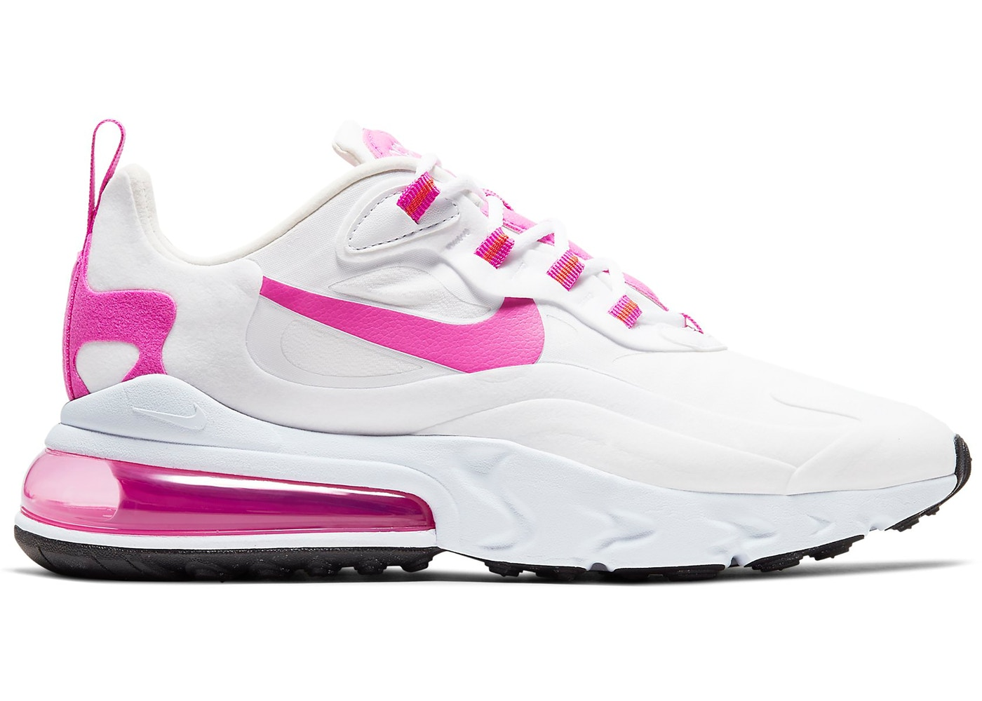 Nike Air Max 270 React White Fire Pink W Cj0619 100
