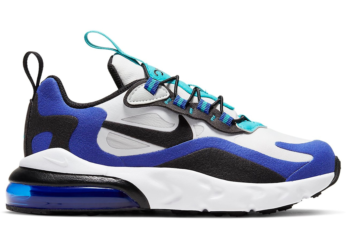 Nike Air Max 270 React White Hyper Blue Oracle Aqua Ps Bq0102 105