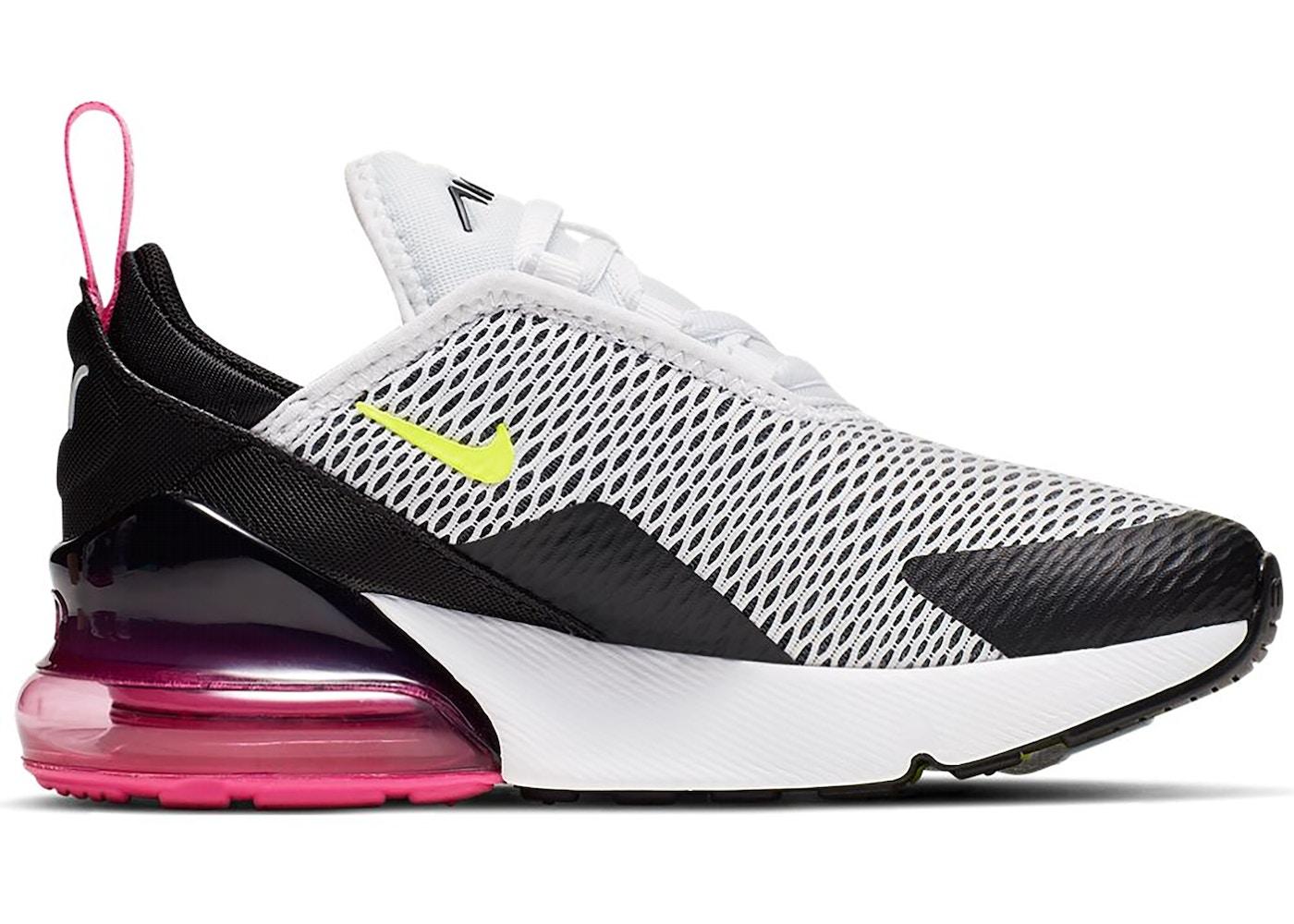 Nike Air Max 270 White Black Fuchsia Volt (PS)