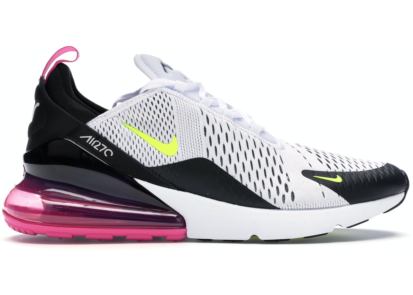 perdí mi camino Inhalar sistemático  Nike Air Max 270 White Black Fuchsia Volt - AH8050-109
