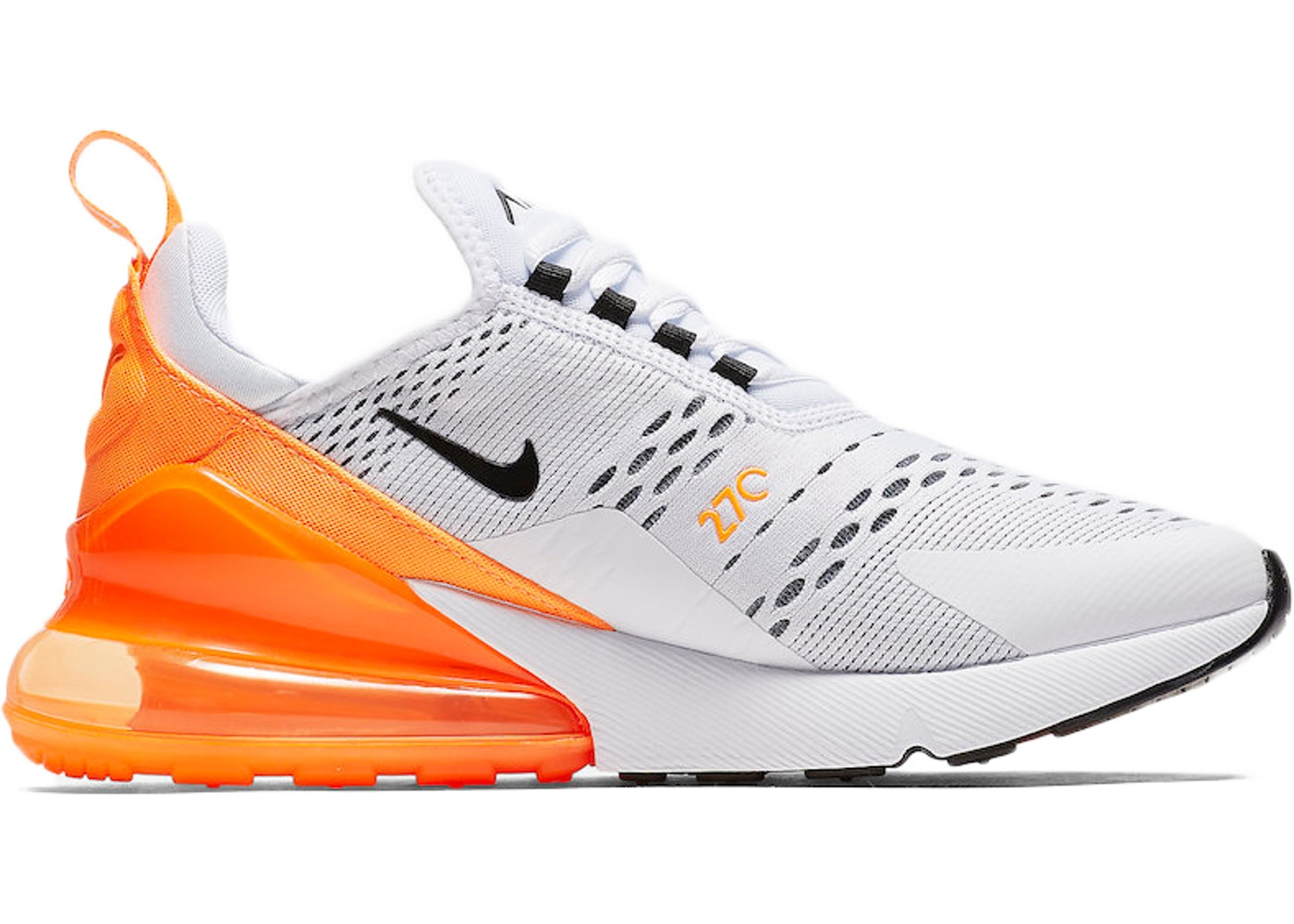 sports shoes 2a45f 213f7 Air Max 270 White Black Orange (W) - AH6789-104