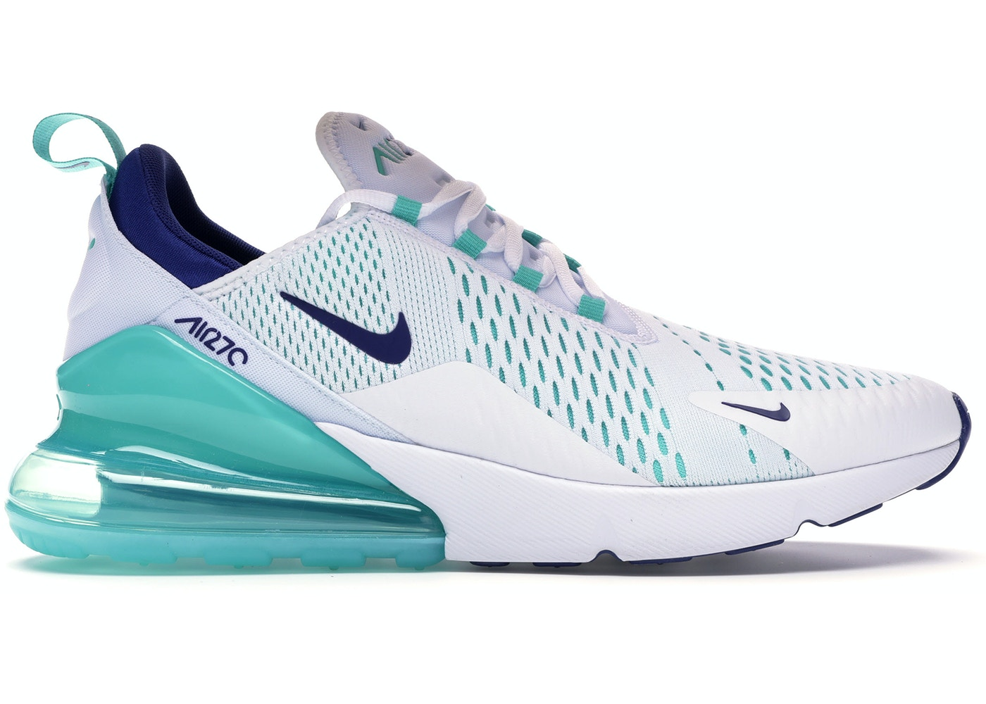 Nike Air Max 270 White Hyper Jade Deep Royal Blue Ci2451 100
